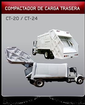 Compactador de carga trasera, Camion recolector de basura cancun